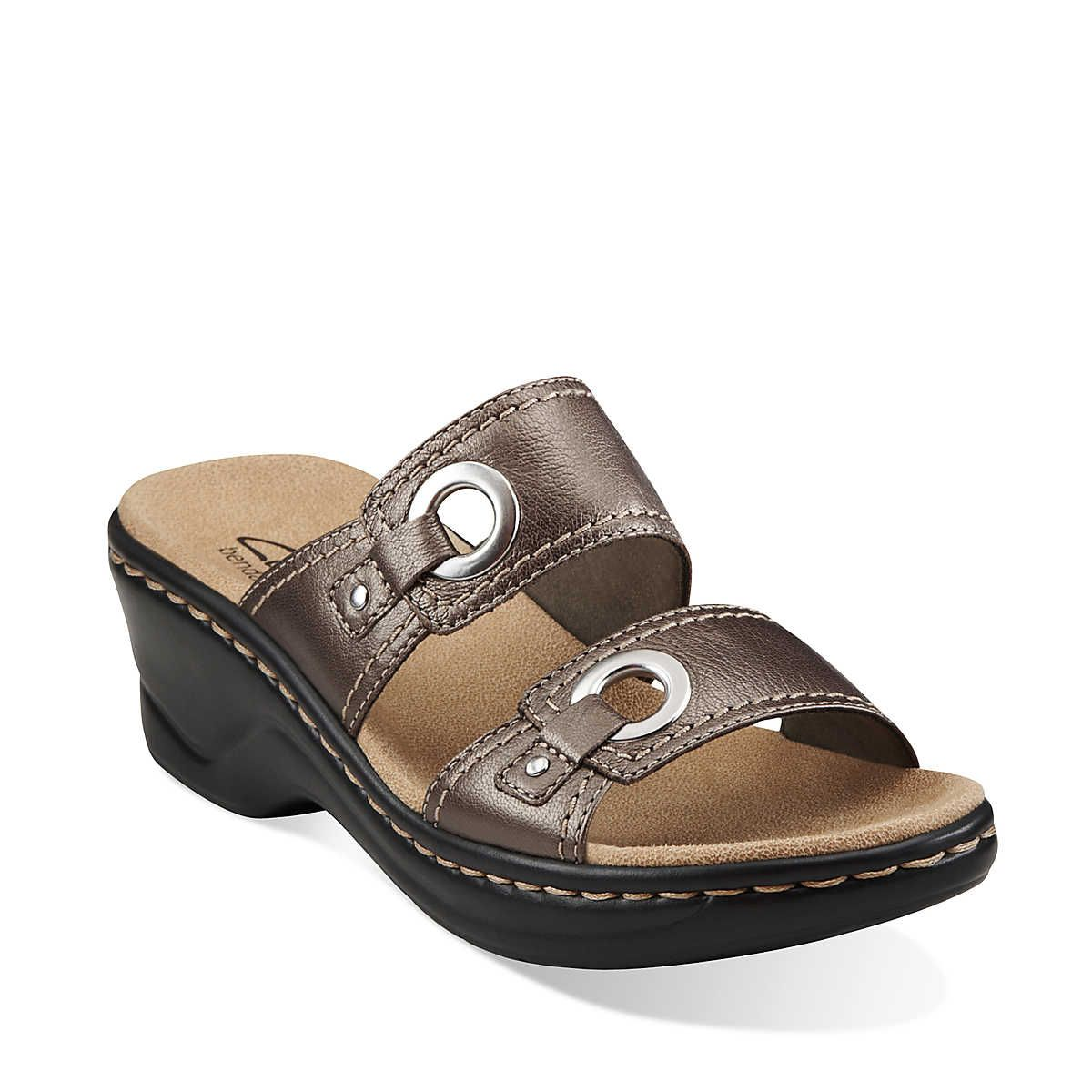 Lexi Willow in Pewter Leather - Womens Sandals from Clarks