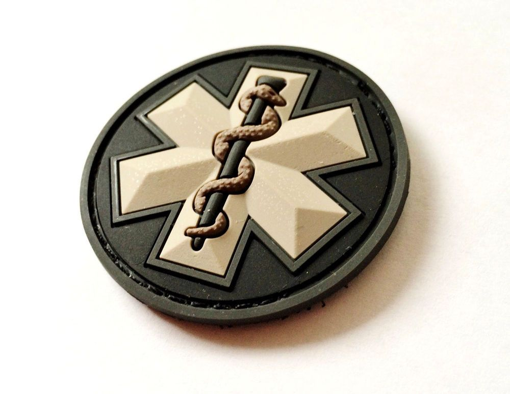 Tactical MSM Paramedic Star Caduceus PVC Velcro Patch In stock. COLOR… 1bff3857d3c
