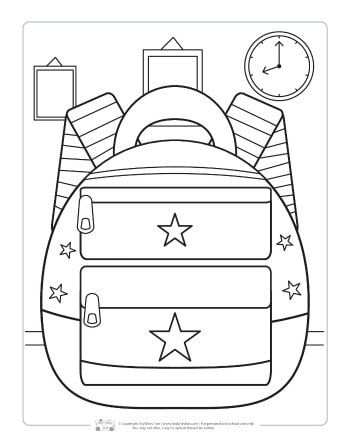 Back to School Coloring Pages for Kids | Educa Laminas Infantiles ...