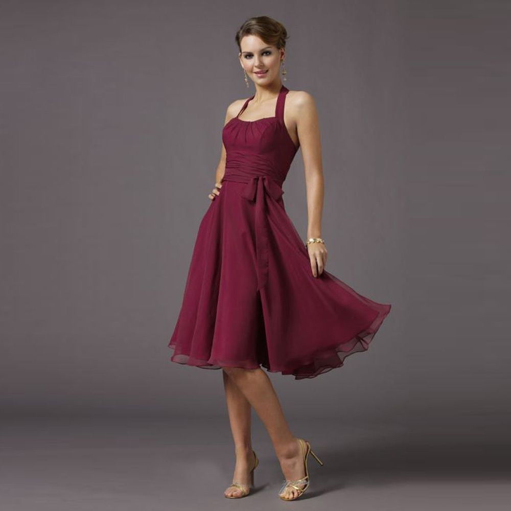 Click to buy cheap wine red short bridesmaid dresses 2017 knee click to buy cheap wine red short bridesmaid dresses 2017 knee length ombrellifo Image collections