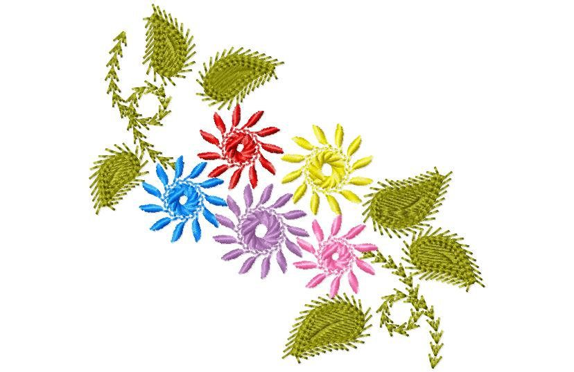 Flower embroidery design by SewMeSomeStitches on Etsy