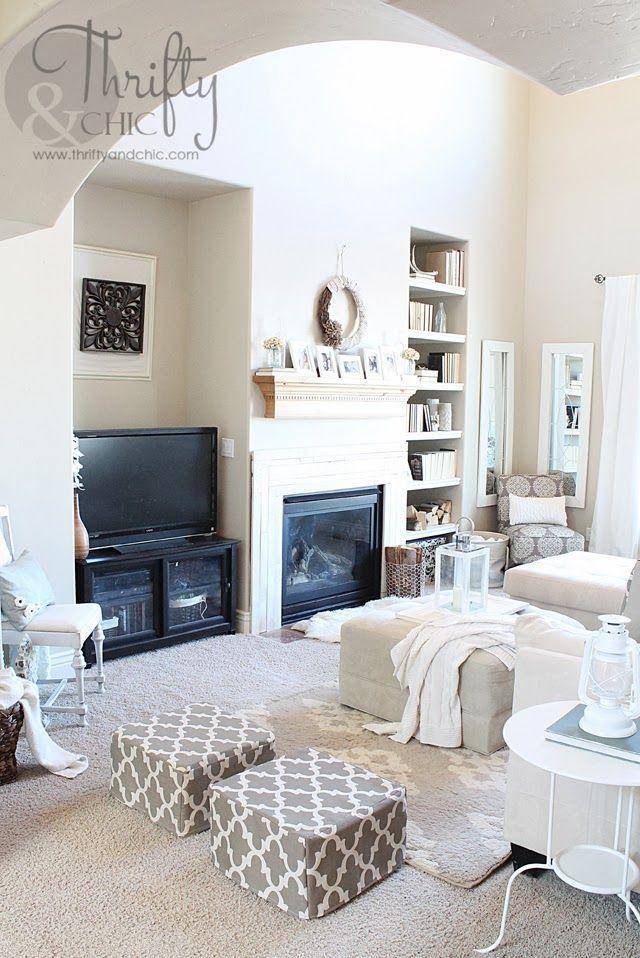 amazing chic living room poufs mathwatson rh mathwatson com