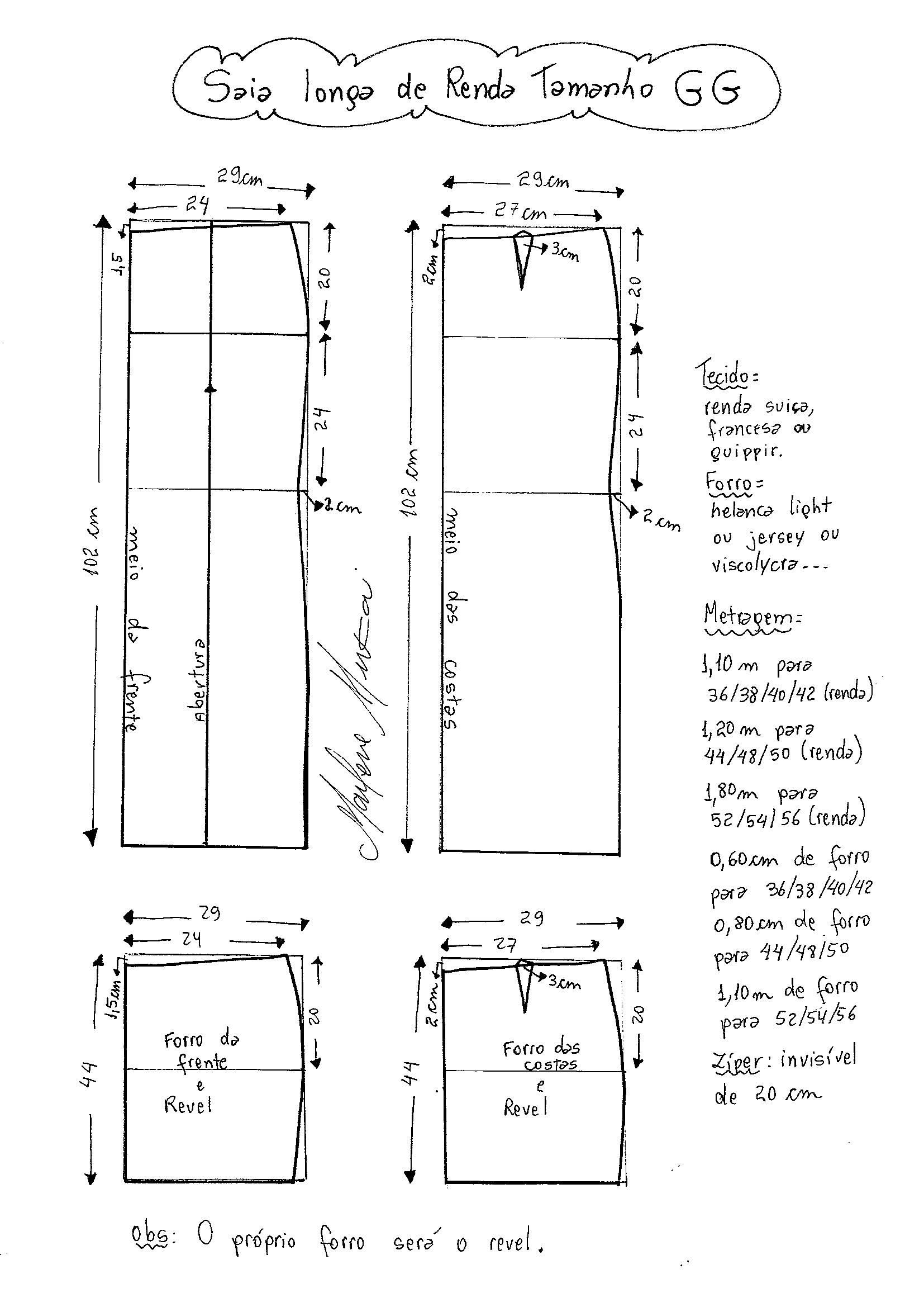 Patrón falda larga recta   costura   Patron falda, Costura y Patrones