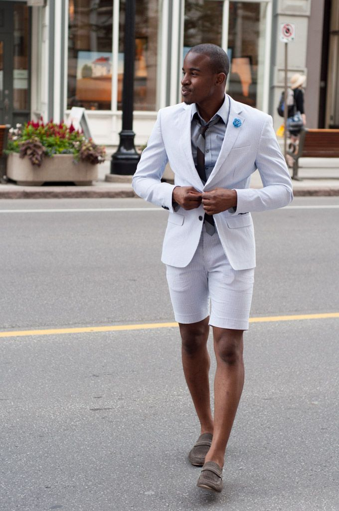Men's Short Suits and Short Separates Outfit Inspiration Lookbook ...