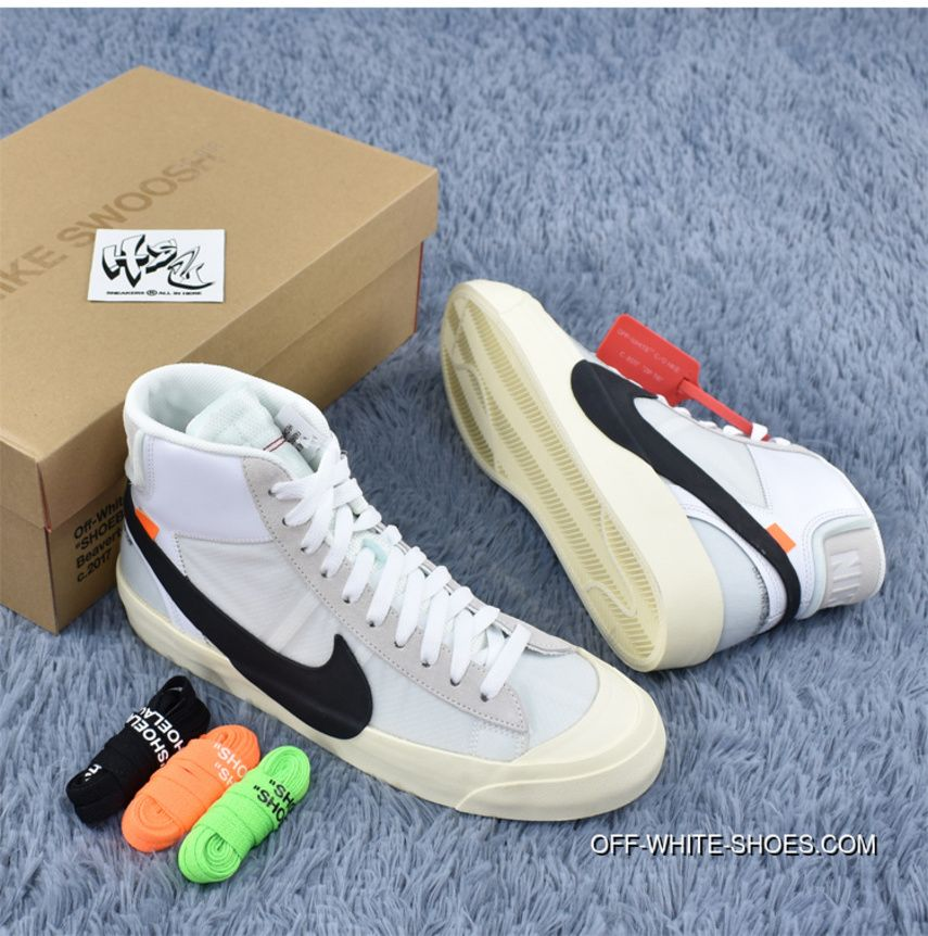 new style 84b3e ccf2f 50% off nike unc off white x blazer mid ow joint 32 10 skateboard shoes
