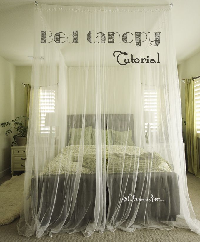 How To Make A Ceiling Bed Canopy Tutorial Canopy Bed Diy Diy