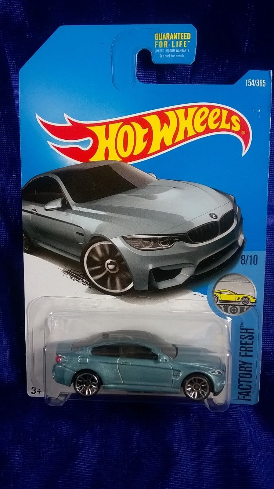 Hot Wheels 2017 BMW M4 Light Blue Fresh 8//10