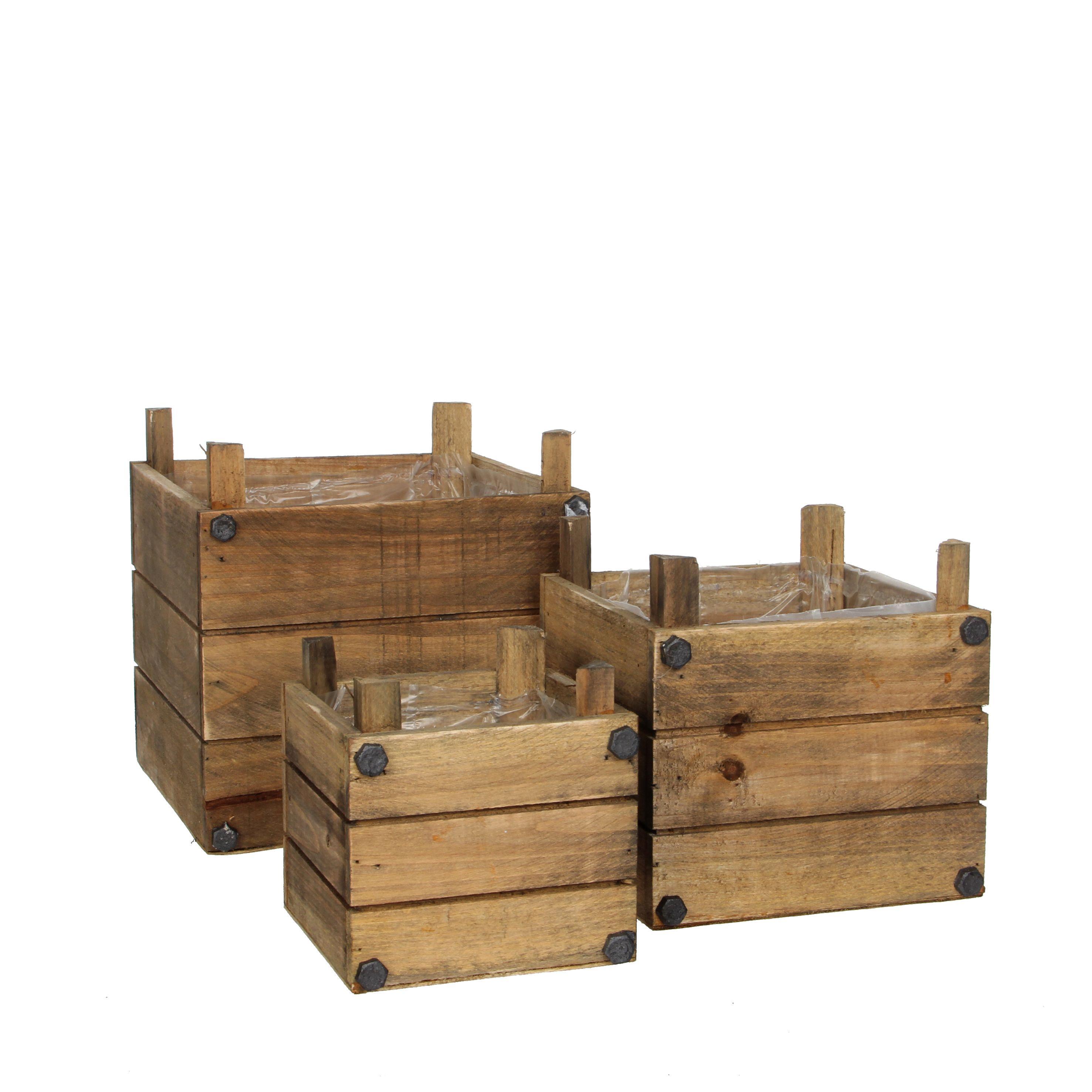 Cajas de madera para centro de mesa caja de madera for Decoracion de cajas