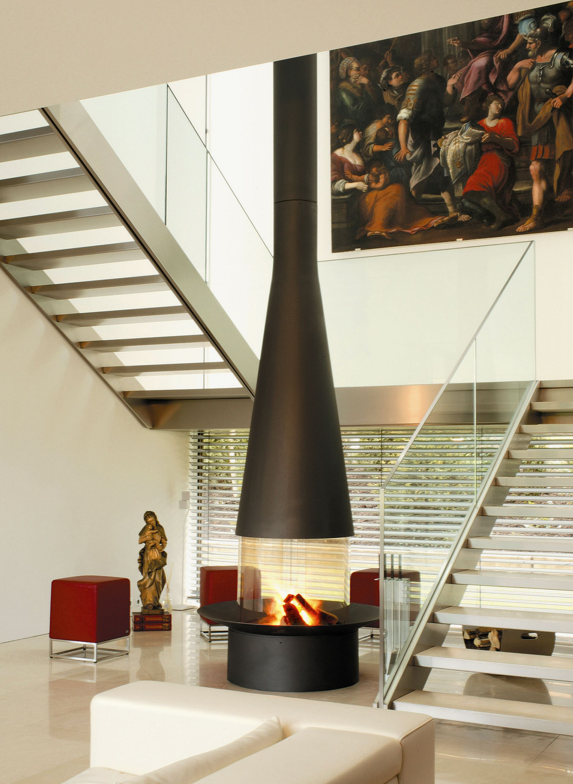 CENTRAL HANGING FIREPLACE FILIOFOCUS 2000 CENTRAL FILIOFOCUS COLLECTION BY  FOCUS | DESIGN DOMINIQUE IMBERT