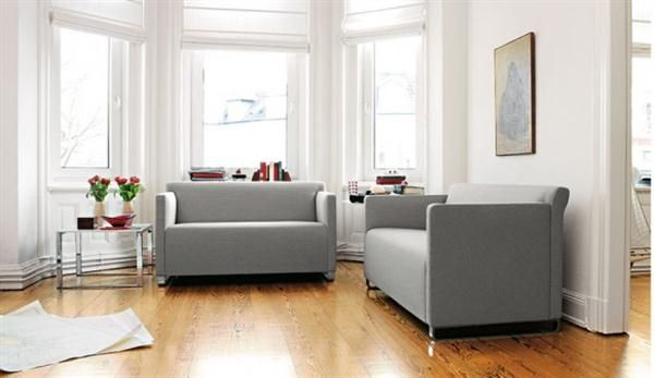 Modern Grey Sofa With Wooden Floors And White Walls Living Room Sofa Set Grey Sofa Living Room Grey Sofa Design