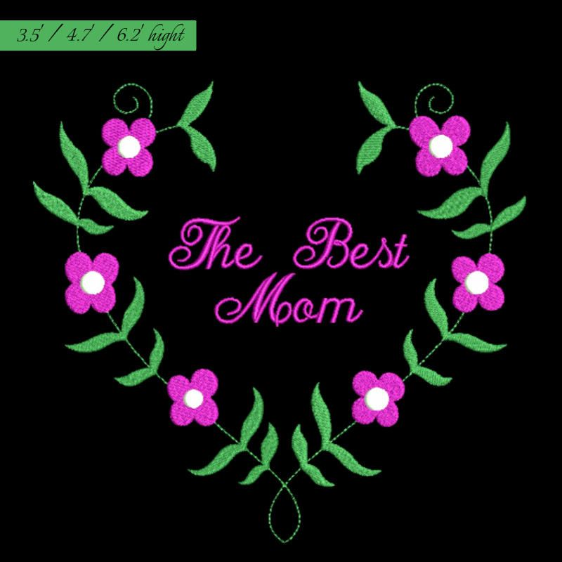 The Best Mom Embroidery Designmother Embroidery Patternmmy