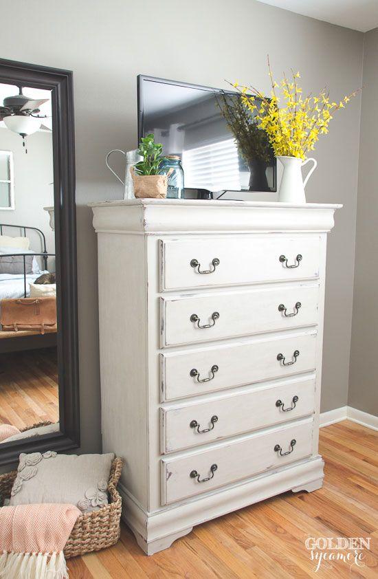 Painted Dresser In Light Beige  Organizarion Freak  Pinterest Cool White Bedroom Dresser Design Ideas