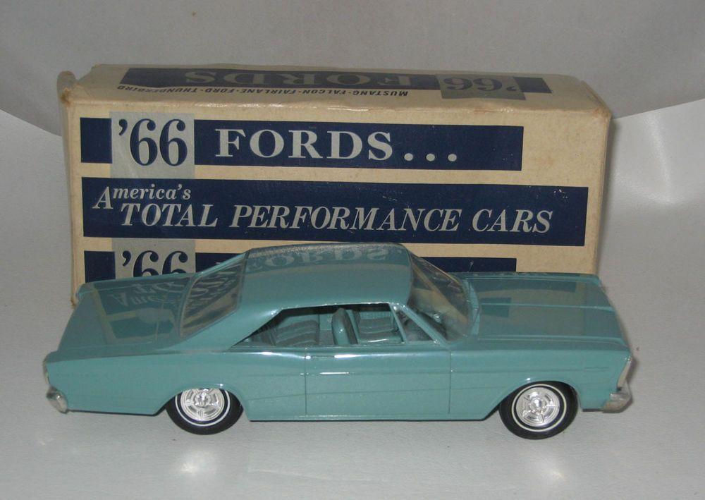 1966 Ford Galaxie 500 Promo Car Aqua Blue 2 Door Hard Top Nmib