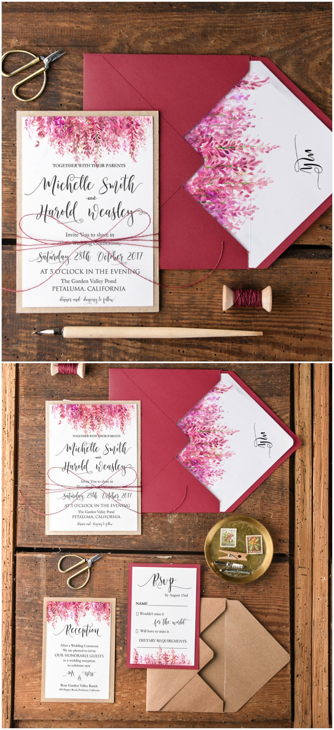 WEDDING INVITATIONS watercolor   Pinterest   Weddingideas, Floral ...