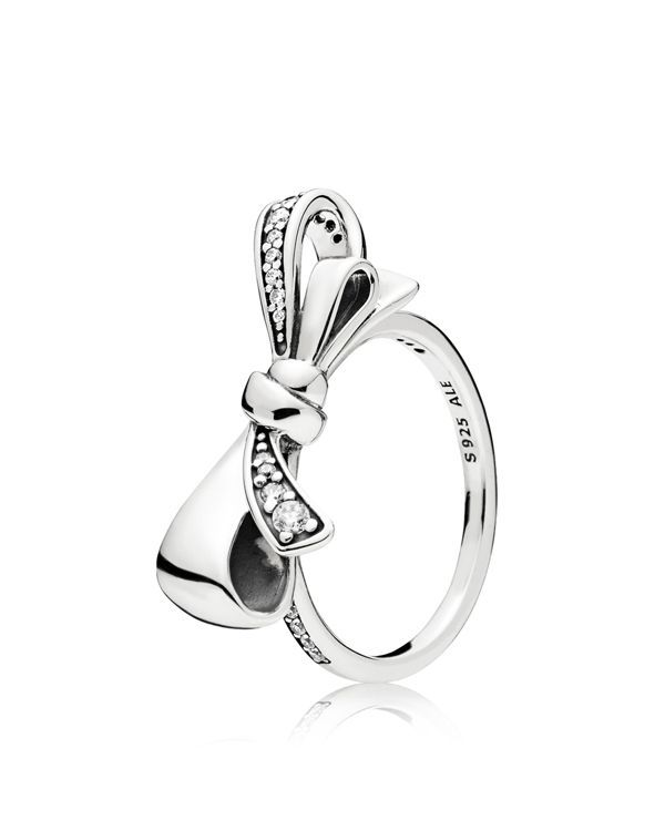 2e4d4c1de Sterling Silver & Cubic Zirconia Brilliant Bow Ring | Products ...
