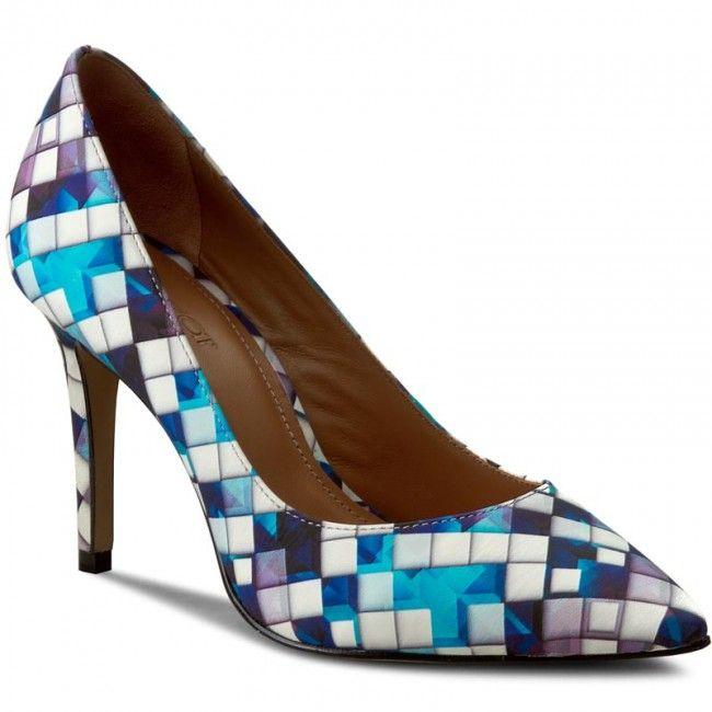 Szpilki Kazar Paris 28453 01 95 Kolorowy Niebieski Beautiful Shoes Heels Shoes