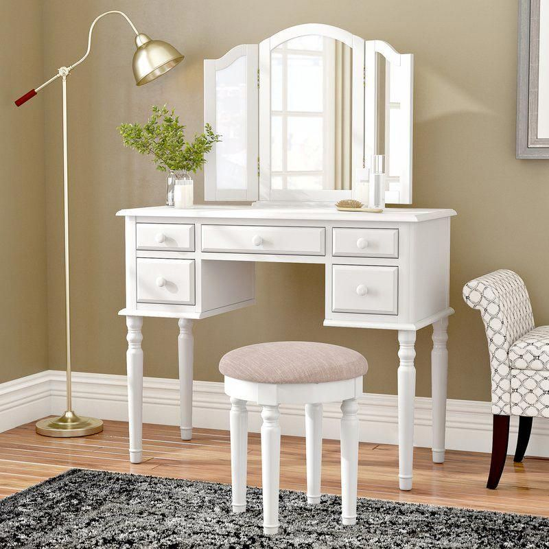 Ballston Vanity Set with Mirror #BedroomForKidsPaintColors Bedroom