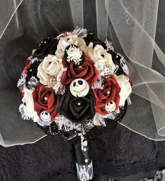 Nightmare before christmas wedding bouquet