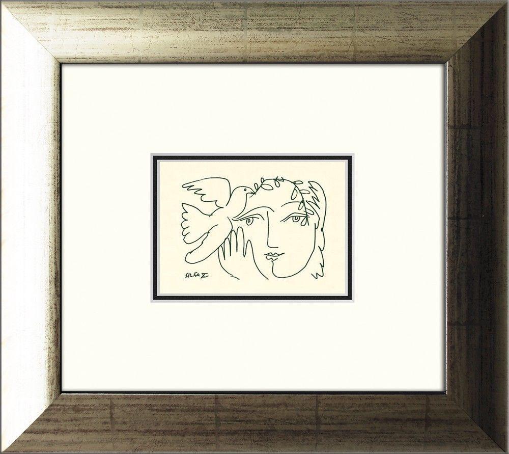 Details zu artissimo Kunstdruck gerahmt 39x35cm Picasso Bild Plakat ...