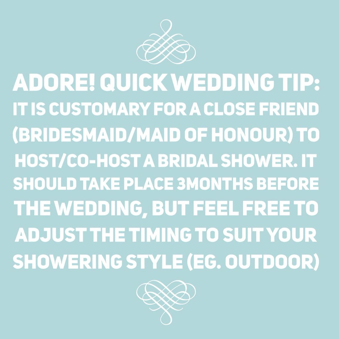 Adore! Quick Wedding Tip: Bridal Shower Planning 101!