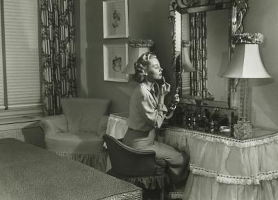 1930 1940 Decor | ... Design 1930s on Woman At Her Vanity Table In A ...