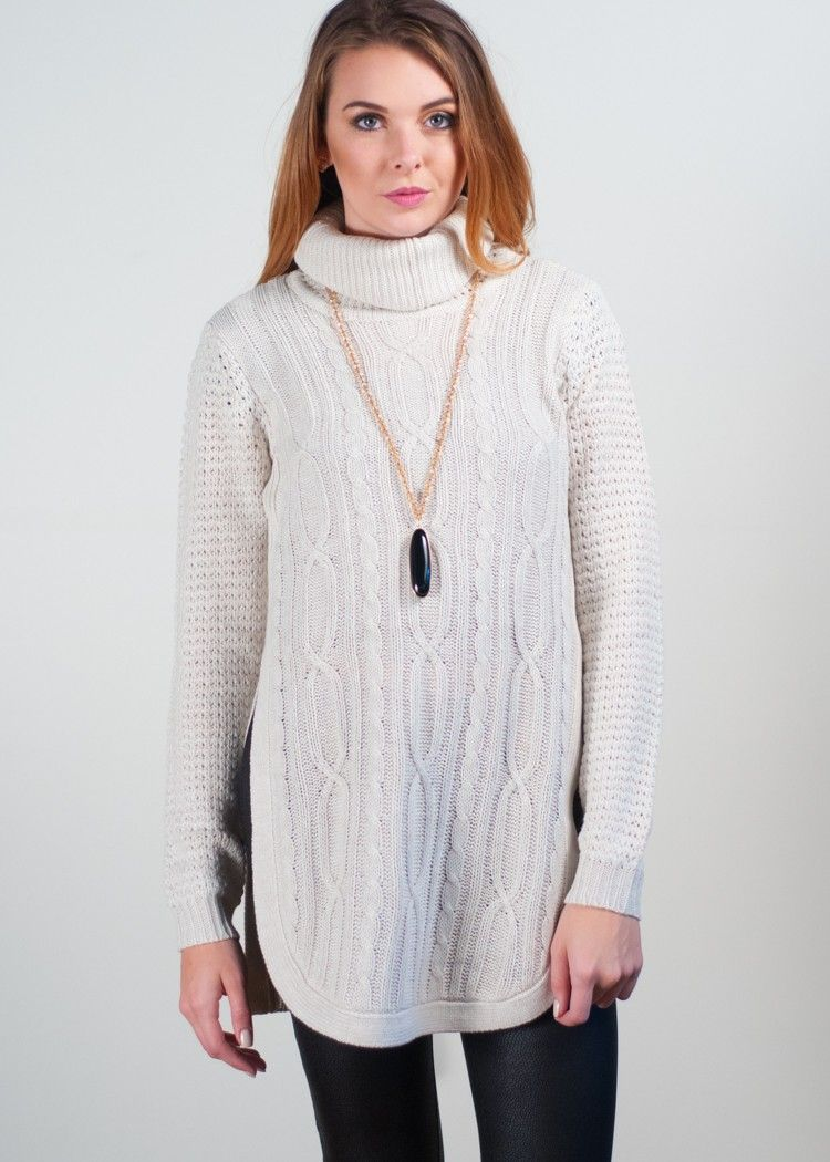 RD Style Blueridge Cowlneck Tunic Sweater | Tunic sweater, Cowl ...