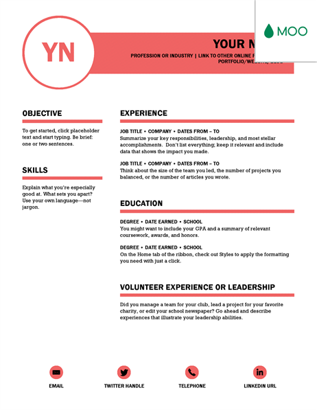 Polished Resume Designed By Moo Microsoft Word Resume Template Resume Template Free Microsoft Resume Templates