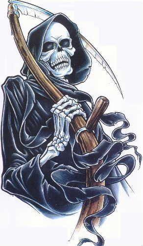 Grim reaper tattoo grim reaper tattoo tattoos pinterest tatuagem de ceifeiro - Tatouage la faucheuse ...