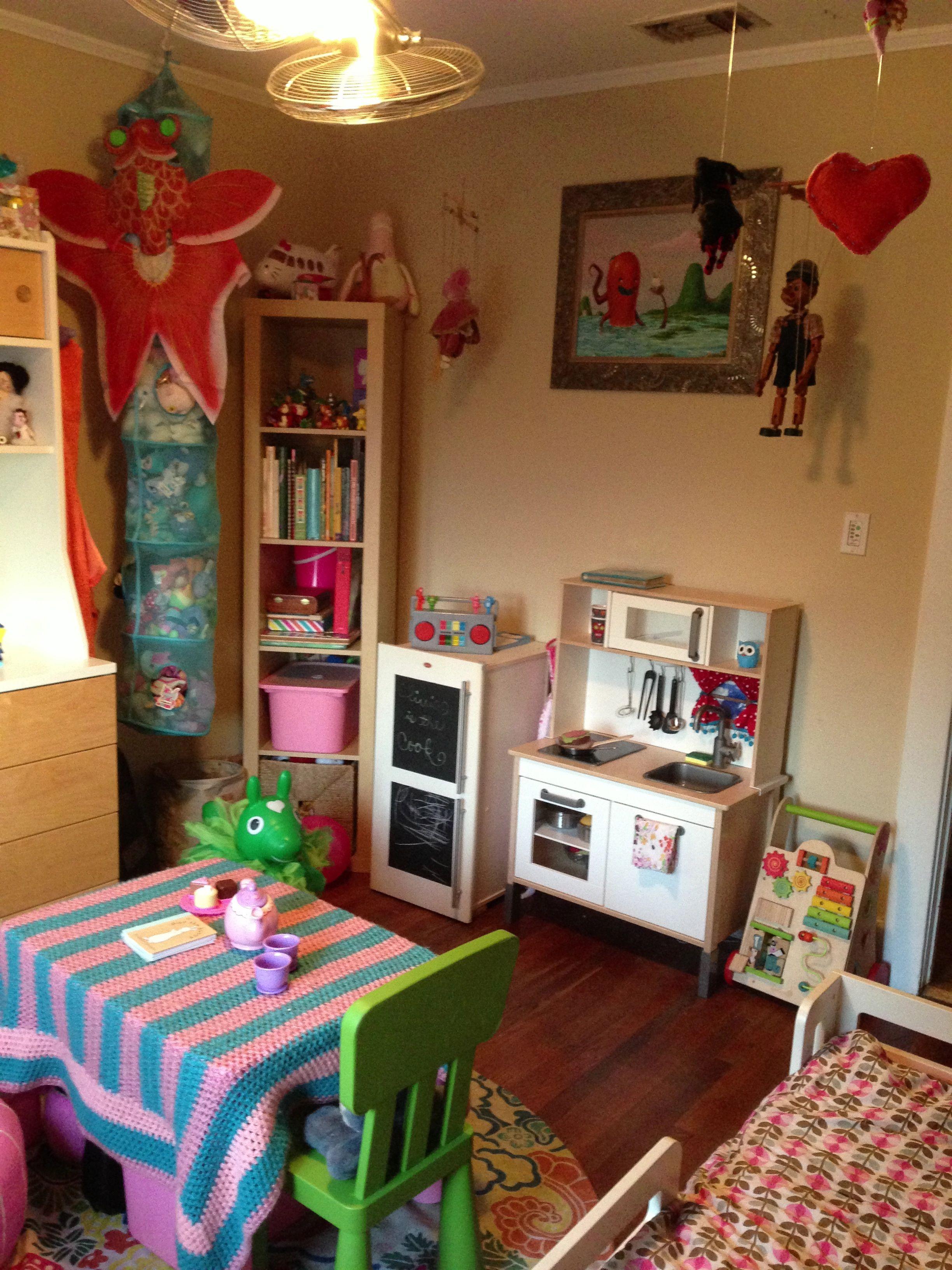 Ikea duktig play kitchen and fridge