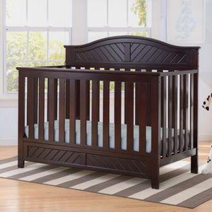 Delta Children Bennington Elite Curved 4 In 1 Convertible Crib Dark Espresso Convertible Crib Sets Cribs Convertible Crib