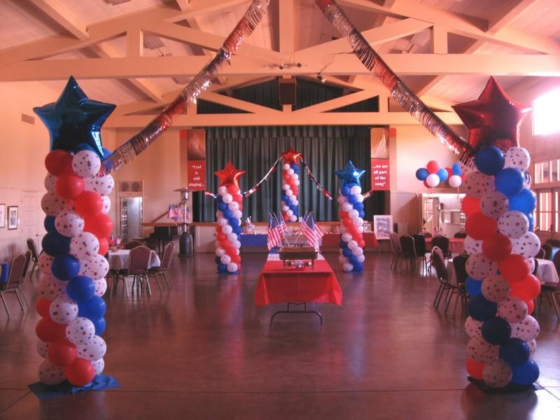 patriotic decorations balloon decor of central california patriotic - Patriotic Decorations