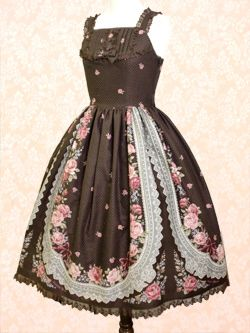 Lauretta Rose JSK in Chocolat (INNOCENT WORLD)    The sort of handkerchief design and delicate details makes it very folksy yet refined :D