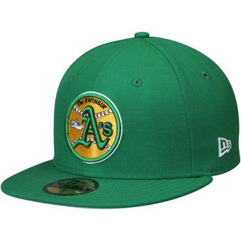 New Era Oakland Athletics Green Cooperstown Collection Wool 59FIFTY Fitted  Hat  athletics  oakland   4117401369e