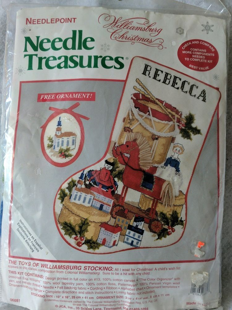 Needle Treasures 06881Toys Williamsburg Needlepoint