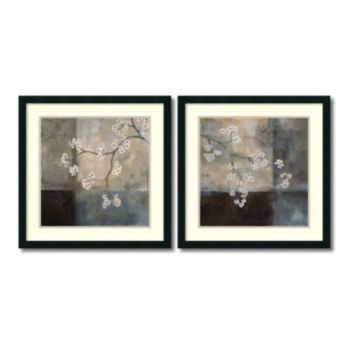 Spa Blossom\'\' Floral 2-piece 25\'\' x 25\'\' Framed Wall Art Set, Black ...