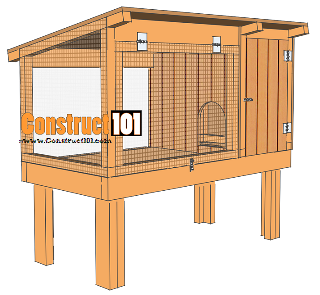 Rabbit hutch plans step by step plans lapin clapiers for Outdoor rabbit hutch kits