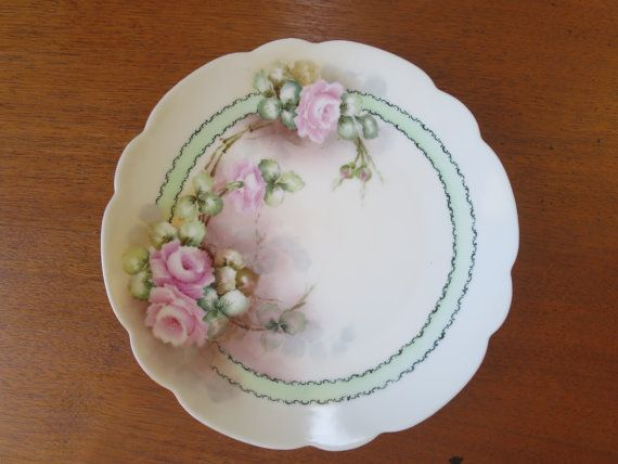 Antique Rose Plate Selb Bavaria Porcelain by BonniesVintageAttic & Antique Rose Plate Selb Bavaria Porcelain by BonniesVintageAttic ...