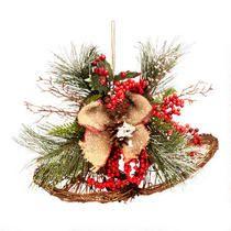 "14"" Twig Christmas Bells Ornament"