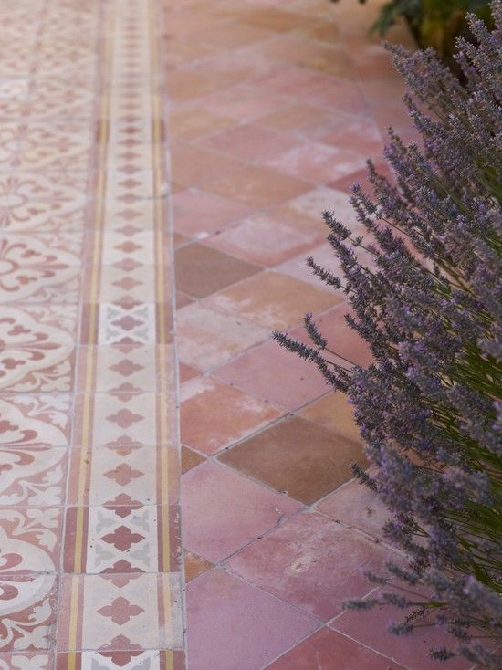 Decorative Patio Tiles Amazing Create A Runnerrug With Decorative Tiles Set In Solid Tiles#san Design Inspiration