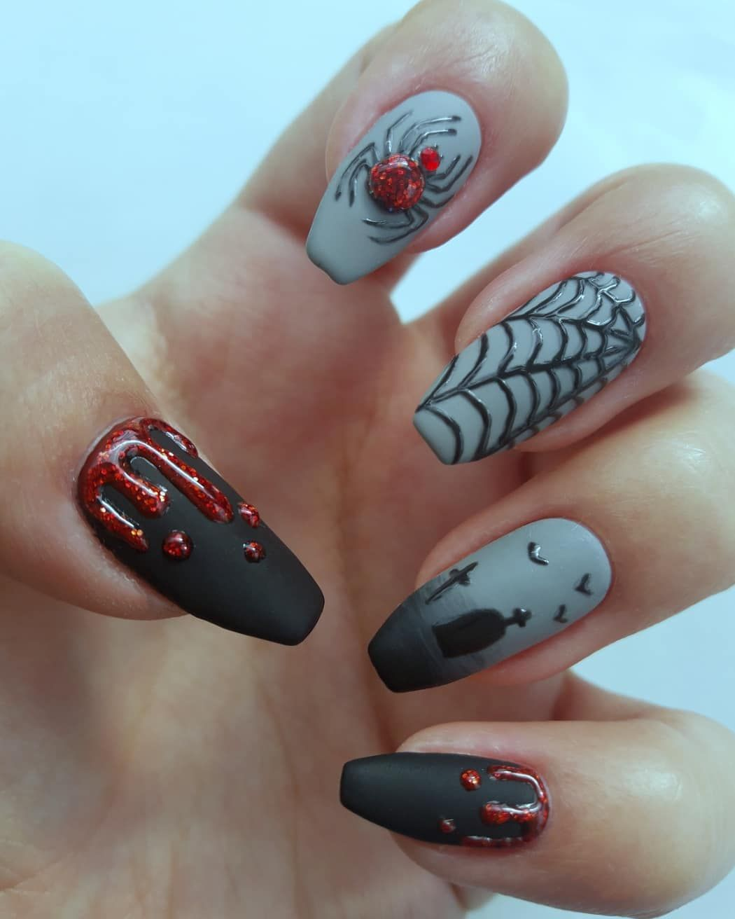 Amazing Work By Nailartjunky On Instagram Finally The Time Came To Make These And The Hard Work I Put Into Them Was Halloween Nails Nails Nail Art Designs