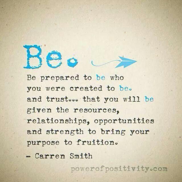 Be....