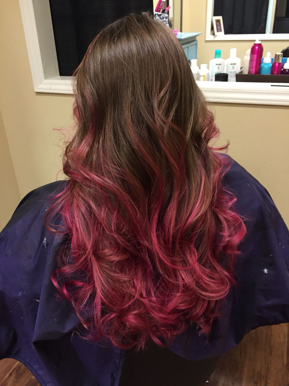 My pink highlights, brown hair. Pravana magenta | Hair Dye ...