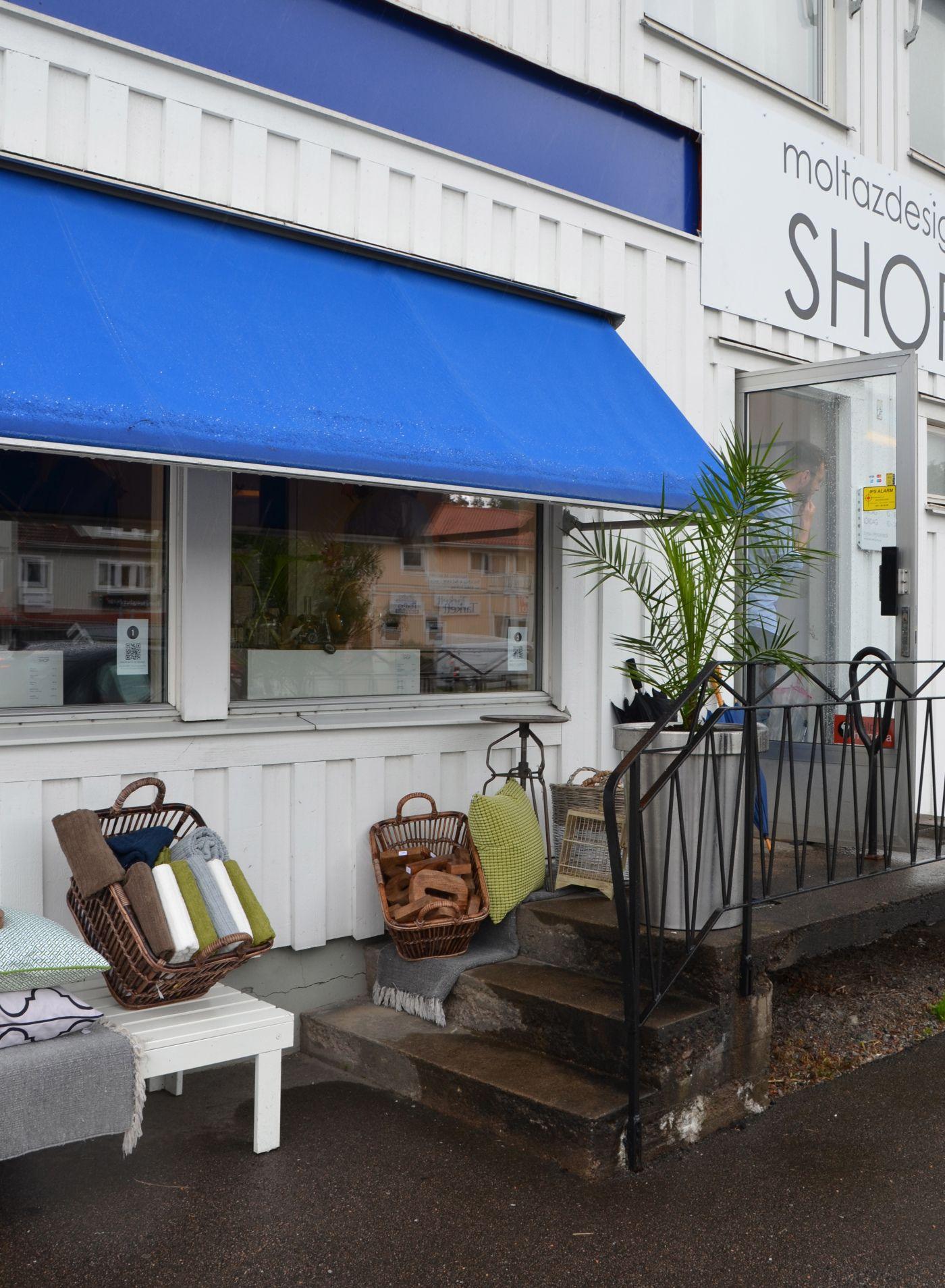Moltazdesign Shop ute på Orust, eller närmre bestämt i Henån