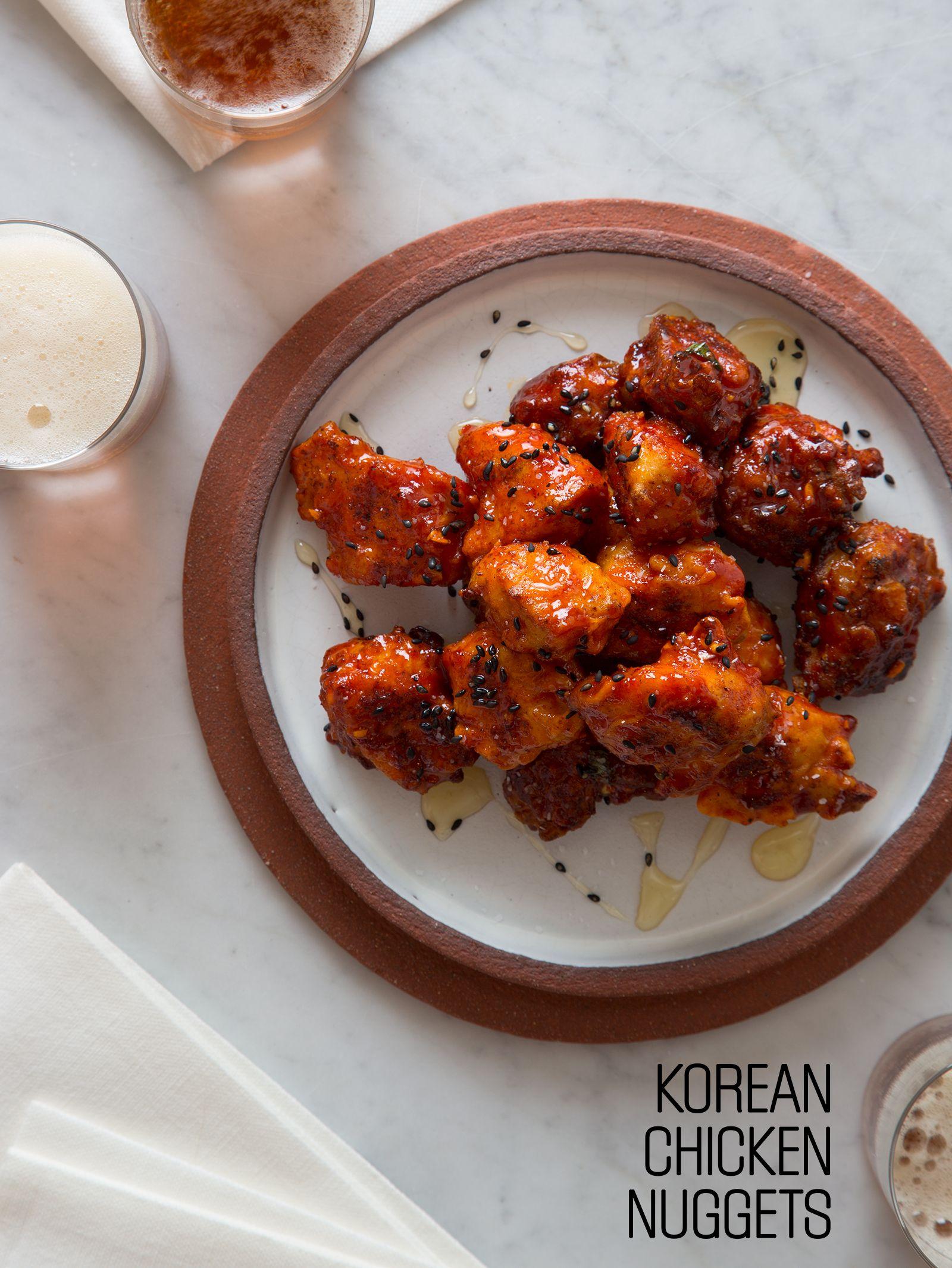 Korean Chicken Nuggets Chicken Nugget Recipeschicken