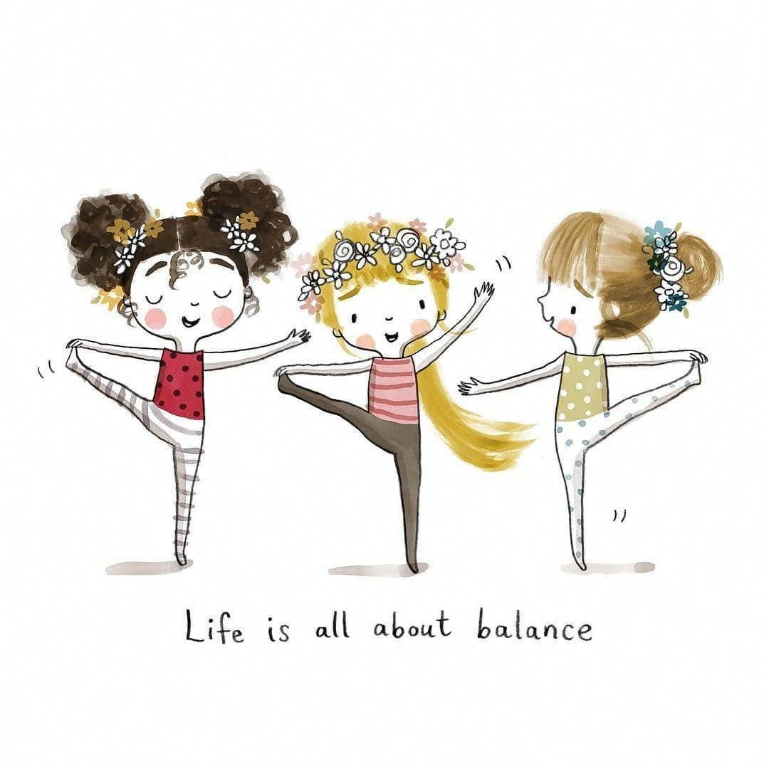 """Yoga Feature on Instagram """"💛life is all about balance💛 On"""