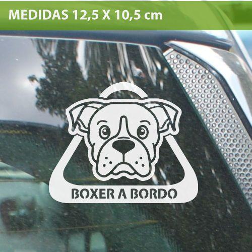 Boxer a bordo perro mascota vinilo adhesivo pegatina for Vinilo adhesivo coche