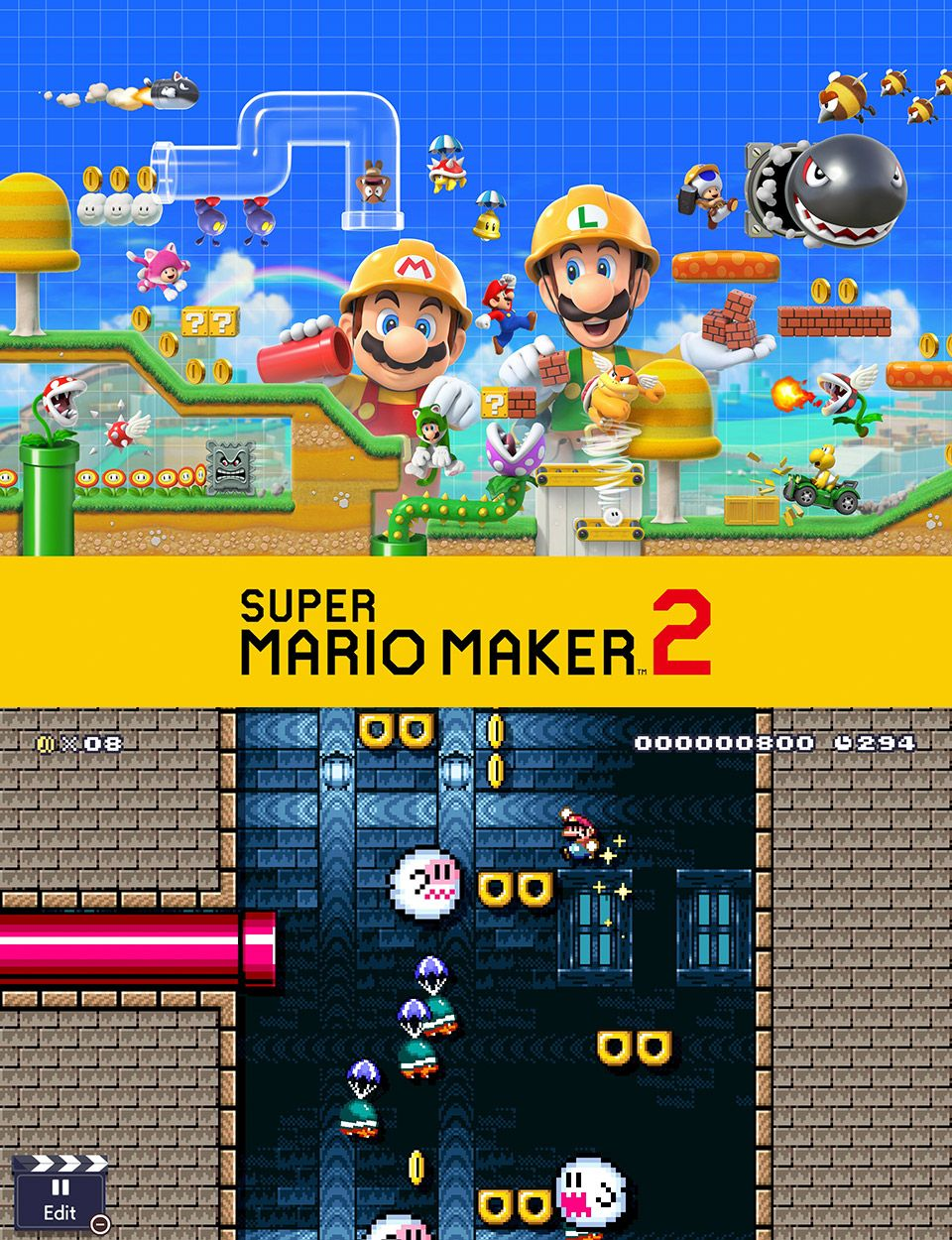 First Look At The New Features In Super Mario Maker 2 For The Nintendo Switch Super Mario Bros Games Super Mario Mario
