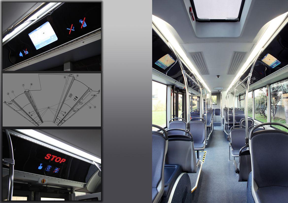 Otokar Transport Bus Interior Blue Grey Modern Bus Interior