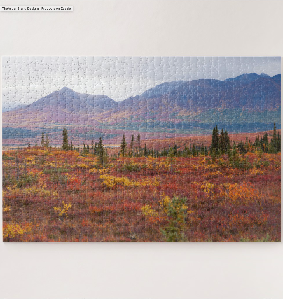 Denali National Park Alaska In Scenic Autumn 1014 Piece Jigsaw Puzzle Gather the for a challenging featuring this of