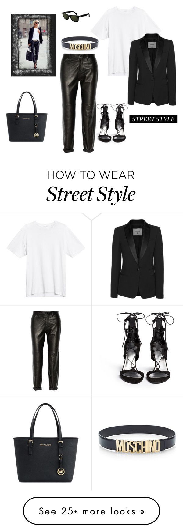 """""""Old, but classic by now... Timeless style"""" by juliabachmann on Polyvore featuring J Brand, Michael Kors, Dondup, Moschino, Ray-Ban and Stuart Weitzman"""